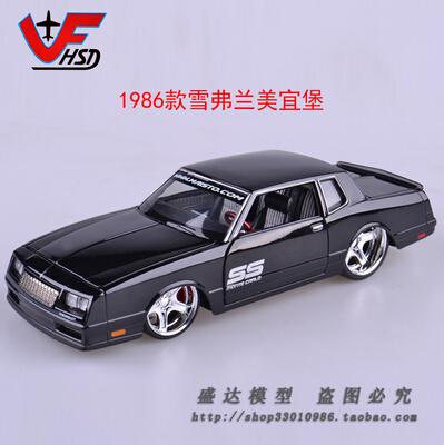Apertura de la tienda 1986 Chevrolet Malibu modelos de Aleación de coche Maisto 1:24 coches Clásicos coches de Época de Rápido y Furioso Juguetes para los niños