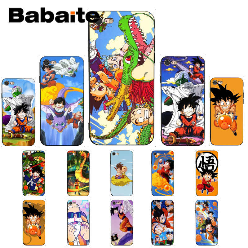 Babaite dos desenhos animados dragon ball z super dbz goku capa caso do telefone para o iphone 8 7 6 s 6 plus x xs max 5 5S se xr 10 11 11pro 11promax