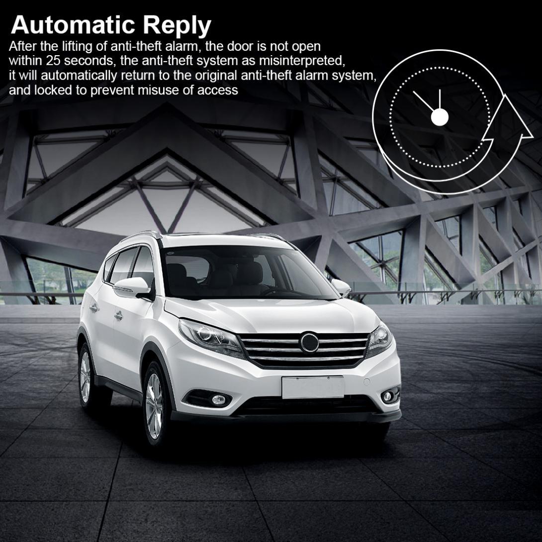 Alarme Auto voiture Kit Central à distance démarrage arrêt système moteur verrouillage Central véhicule sans clé entrée 5A avec clé 2 système antivol - 5