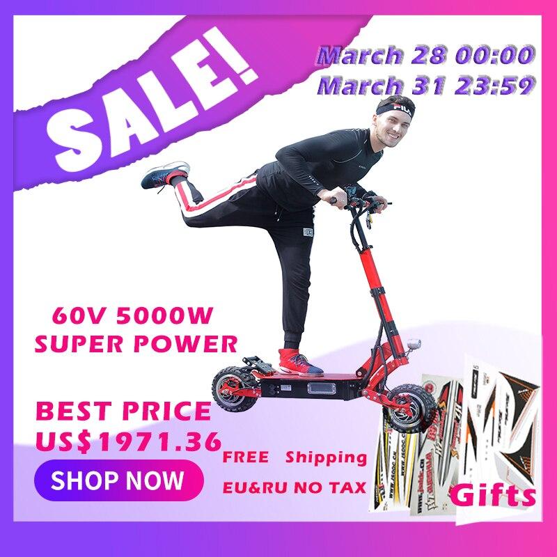 5000 W scooter électrique 11 pouces hors route batterie au Lithium 38.5A max 135 km distance 95 km/h vitesse rapide puissante pliable hoverboad