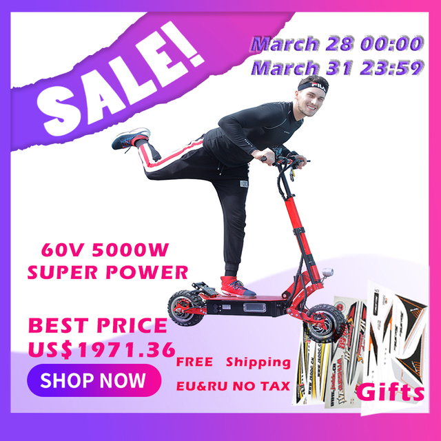 5000W electric scooter 11inch Off Road Lithium battery 38.5A max 135km distance 95km/h powerful fast speed Foldable hoverboad