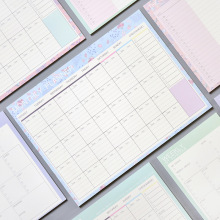 Lovely Floral Monthly Paper Pad 20 Sheets 21*28.5cm DIY Monthly Planner Desk Agenda Gift School Office Supplies Free Shipping