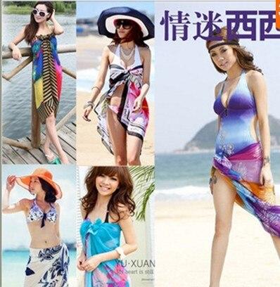 33ea7efac970f US $6.6 |NEW Sexy Chiffon Summer Wear Dress Beach Cover Up Pareo Beach  Sarongs Bikini Cover Ups Scarf Wrap Swim FreeShipping 150*100cm-in Women's  ...