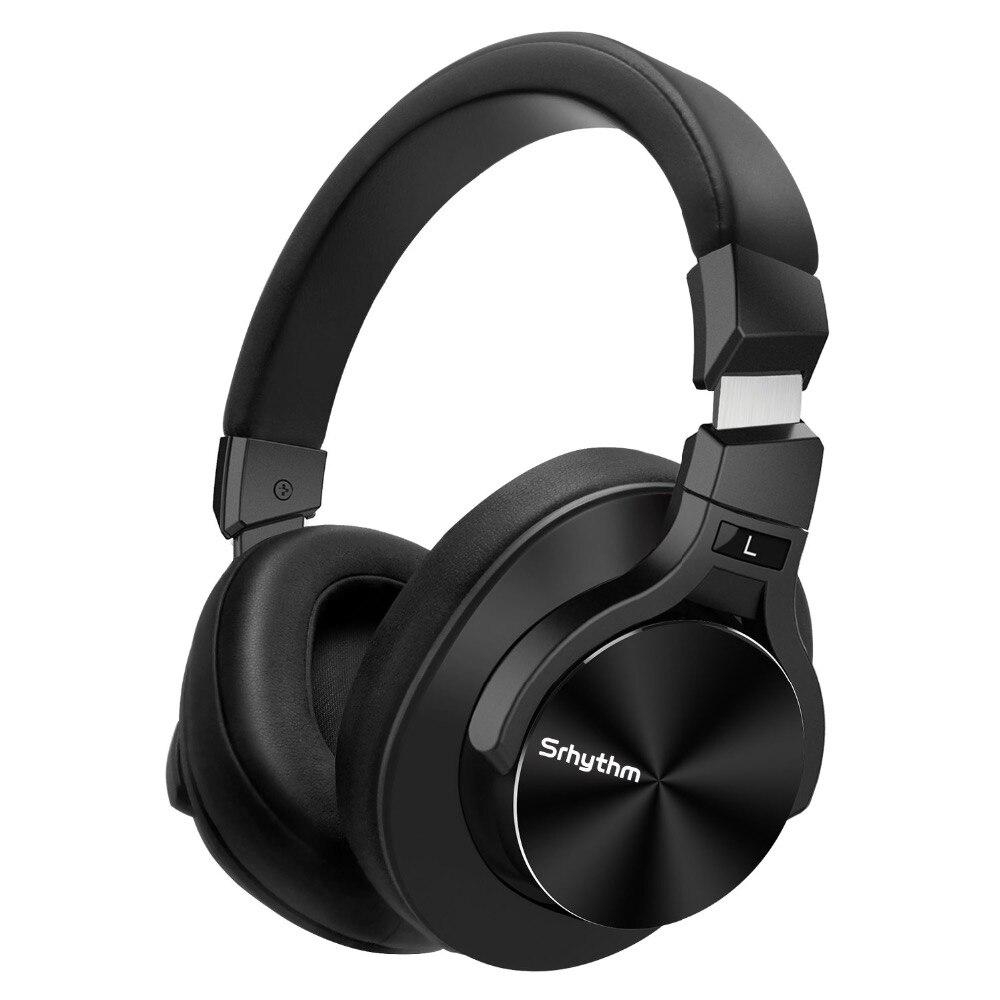 Cancelamento de ruído Fones De Ouvido Bluetooth sem fio Fones De Ouvido Graves profundos ANC srhythm Dobrável Sobre A orelha fone de ouvido Estéreo com microfone
