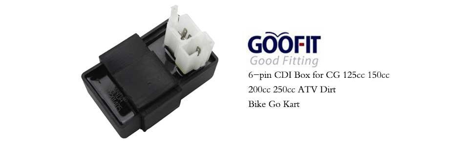 GOOFIT 6 Pin Voltage Regulator Rectifier for 125cc 150cc 200cc 250cc Scooter