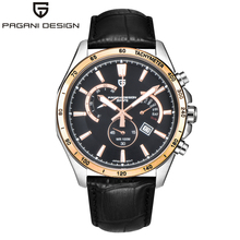 Pagani design business casual reloj cronógrafo deportivo reloj de manera calendario hombres de la correa luminosos (ps-3304)