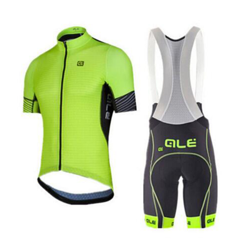 2017 Cycling Jersey Set Cool Bike Suit Bike Breathable Jersey Short Sleeve Shirt Cycling Bib Shorts 9D Gel Men Cycling Clothing
