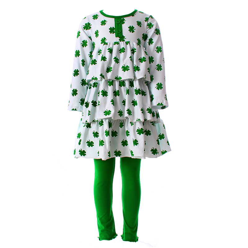 Aliexpress.com : Buy 2017 St.Patrick Girls Clothes Green ...