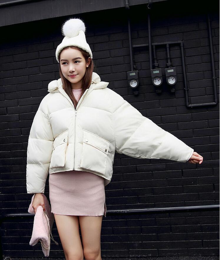 2018 Nuevo Loose gris Abrigos Parkas Casual Moda Rosa azul Oscuro Cielo  Mujer rosado Invierno Acolchado Chaquetas Negro ... f8f7833f9d89