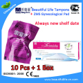 10pcs beautifullife tampons cure Tubal blockage infertility plus 1 pack zimeishu Silver ion Pads to treat women uterine fibroids