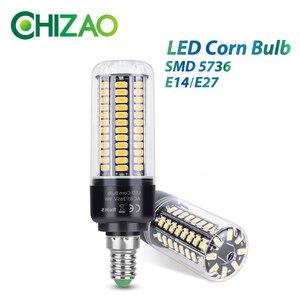 CHIZAO LED Corn Bulb E14 or E27 Base SMD-5736 High brightness Lamp 220V Chandelier Candle LED Light Warm/Pure White lighting