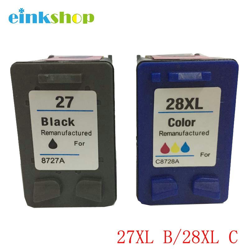 einkshop for <font><b>hp</b></font> 27& 28 28xl compatible Ink <font><b>Cartridge</b></font> for <font><b>HP</b></font> Deskjet 450 450CI <font><b>5550</b></font> 3420 3520 3550 3650 3740 3845 Printer image