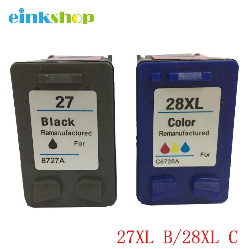 einkshop for hp 27& 28 28xl compatible Ink Cartridge for HP Deskjet 450 450CI 5550 3420 3520 3550 3650 3740 3845 Printer hwdid 56xl 57xl ink cartridge compatible for hp 56 57 c6656a c6657a deskjet 450ci 5550 5552 7150 7350 7000 2100 220 printer