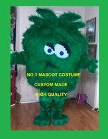 שיער ארוך באיכות גבוהה בפלאש קמע תלבושות למבוגרים בוש דשא מפלצת מפלצת ירוקה מכללת ערכות יום הולדת cosply מפואר dress 1736