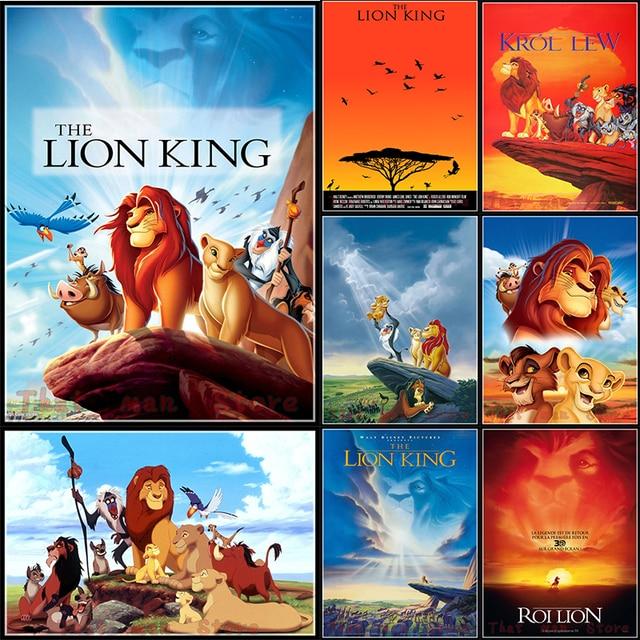 Film Posters Lion King Simba Timon White Cardboard Decorative