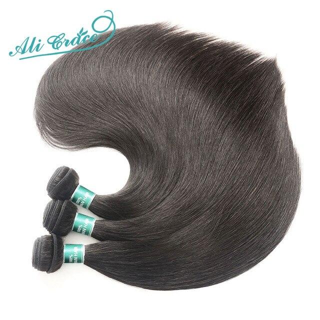ALI GRÂCE Cheveux Brésilienne Droite de Cheveux Humains 1 pièce Cheveux Weave Bundles 10-28 pouce Naturel Couleur Livraison Gratuite remy Cheveux 4