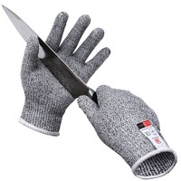 NEW Safurance Mens Breathable Anti Cutting Gloves Proof Protect HHPE Safety Mesh Butcher Cut Resistant Work
