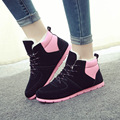 Women Snow Boots Warm Shoes Women 2016 Fashion Winter boots Casual Ankle Boots Round Toe Matte Suede Round Toe Botas Mujer Plus