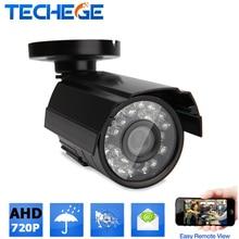 Techege 1280*720 XM310+H42 CCTV Camera IP66 Waterproof HD Network 1.0MP 1000tvl AHD camera day/nignt vision  IR Cut Filter