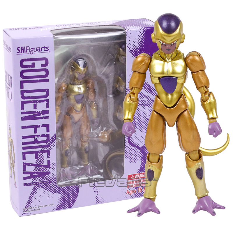 Dragon Ball Z SHF SHFiguarts Golden Frieza PVC Action Figure Collectible Model Toy with Retail Box 12cm