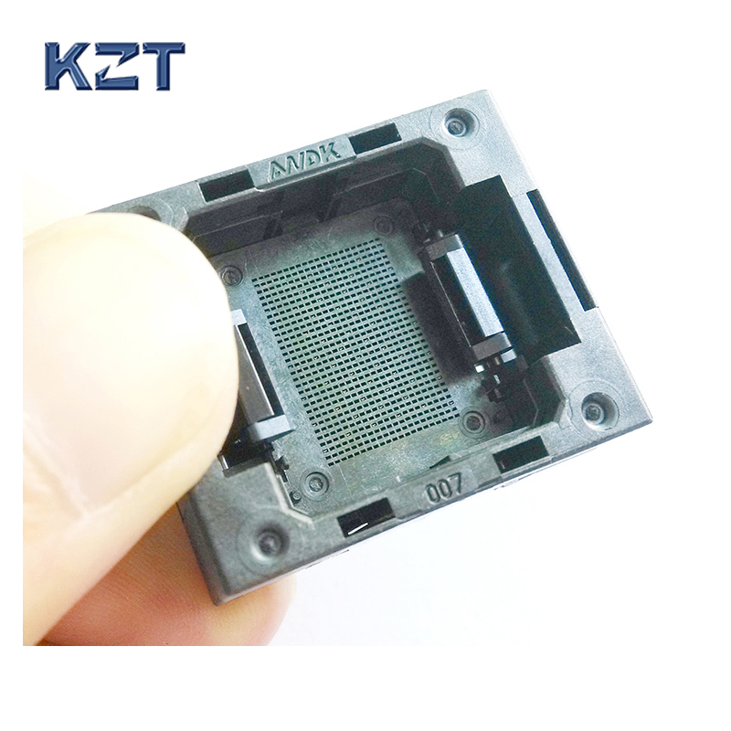 LGA60 Socket Open Top Structure IC Test Socket Burn-in Socket Size 13*17mm Programming Socket LGA Adapter Conversion Block gd32f103 gd32l103 stm32f stm32l lqfp64 ic test socket programming burn block