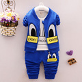 Boys clothing set Autumn three-piece(coat+t-shirt+pants) cartoon infants and children's clothes boy casual sets 1-4 years old