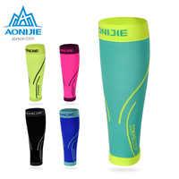 AONIJIE E4068 Kalb Kompression Bein Ärmeln Socken Shin Schiene Unterstützung Relief Für Lauf Jogging Marathon Wandern Fußball Unisex