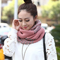 2016 Fashion Knitted Scarf  For Women Foulard Ring Circles Scarves Winter Outdoor Warm Snood Knit Shawl Neckwear Scarf and Shawl