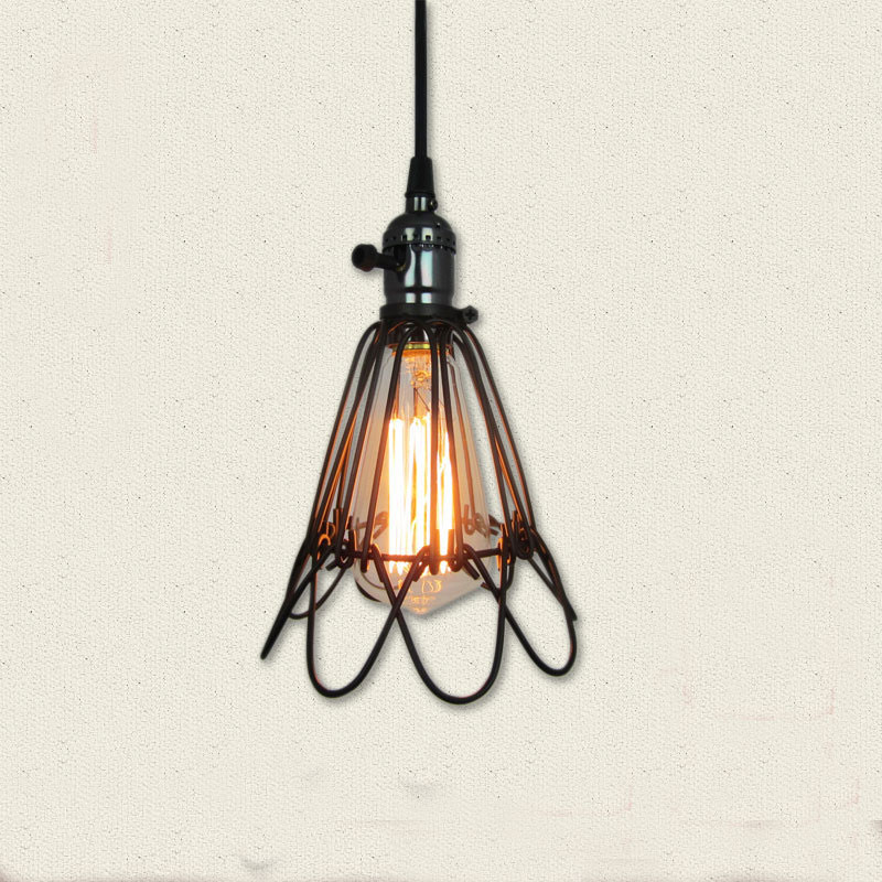 wire wireamp vintage interior lamp pixball shades cage l com shade alluring