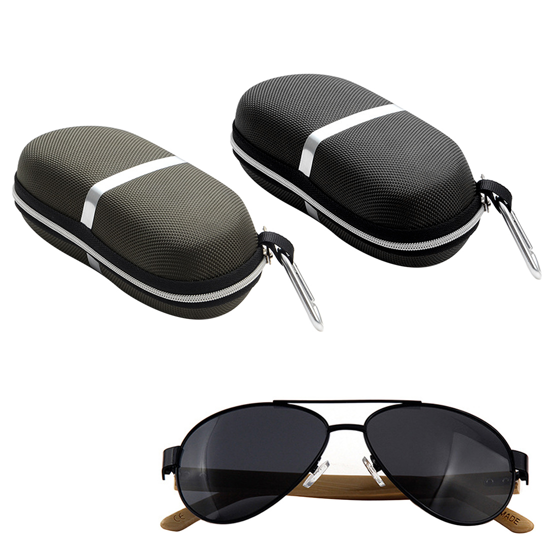 Hot 2Colors Sunglasses Reading Glasses Carry Bag Hard Zipper Box Travel Pack Pouch Case New estuche gafas in Eyewear Accessories from Apparel Accessories