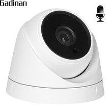 GADINAN Geniş Açı 2.8mm lens Dahili dahili Ses IP Kamera 1080 P SONY IMX322 Dome Video Kamera IP DC 12 V ve 48 V POE ONVIF
