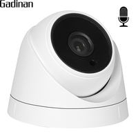 GADINAN Wide Angle 2.8mm lens Internal Built-in Audio IP Camera 1080P SONY IMX322 Dome Video Camera IP DC 12V and 48V POE ONVIF