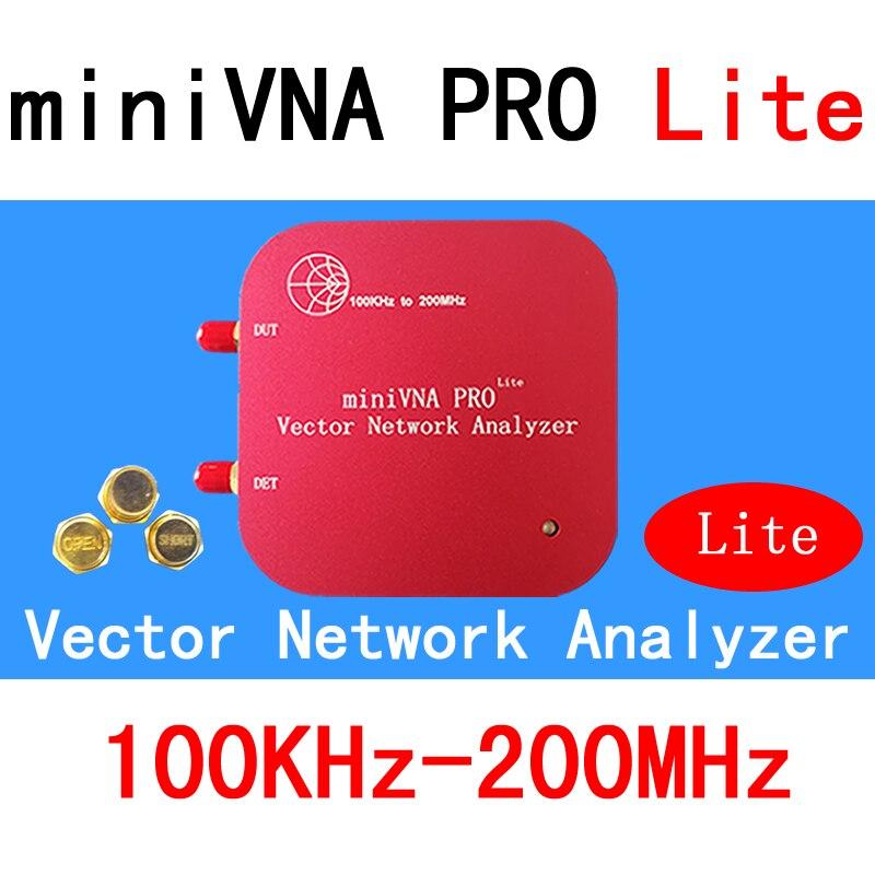 VNA 100 k-200 mhz Analizzatore di Rete di Vettore miniVNA PRO Lite VHF/NFC/RFID RF Analizzatore di Antenna VNA Generatore di Segnale SWR/S11 S21/Smith