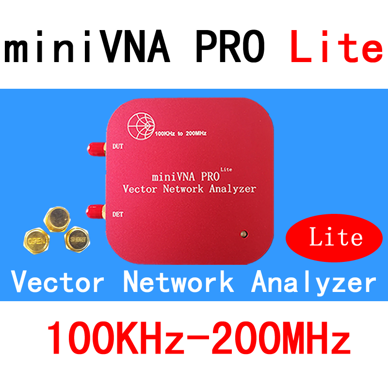 VNA 100 k-200 mhz Analyseur de Réseau Vectoriel miniVNA PRO Lite VHF/NFC/RFID RF Antenne Analyseur VNA Signal Générateur SWR/S11 S21/Smith
