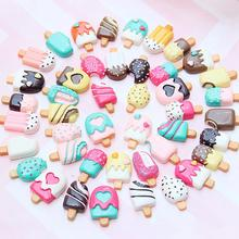 100 Pieces Slime Charms Mixed Resin Cake Animal Slime Beads Making Supplies for DIY Scrapbooking Crafts