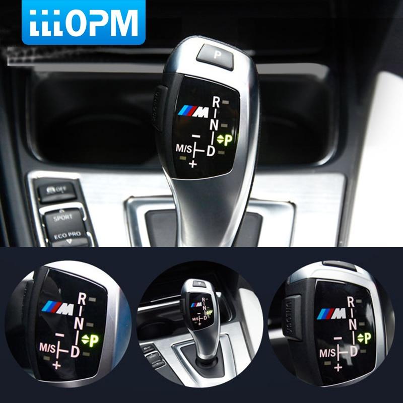 Car Gear Shift Knob Panel Cover M Emblem Stickers for BMW X1 X3 X5 X6 F30 F35 F10 F18 F11 F07 GT F15 F16 F25 F18 F20 F21 M3 M5 M