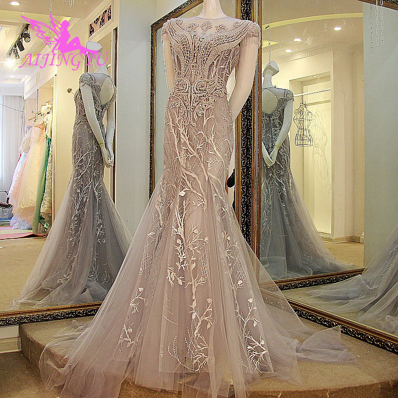 AIJINGYU Tulle Wedding Dress Italian Gowns Mother Of The