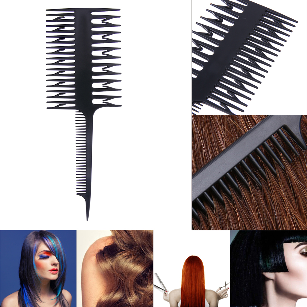 hair styling combs hair salon professional hair dyeing comb 3 way 7677 | Hair Salon Professional Hair Dyeing Comb 3 Way Hairdressing Styling Hair Coloring Depart Piece Dyeing Comb