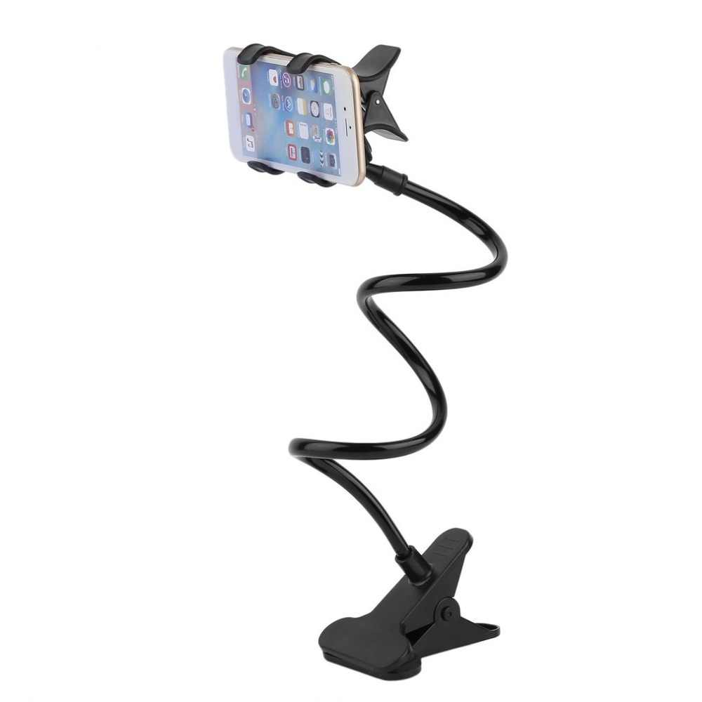 Offre spéciale paresseux étagère chevet Mobile clip Support de téléphone pour téléphone intelligent Support réglable Support bureau Long pliage pliable Support