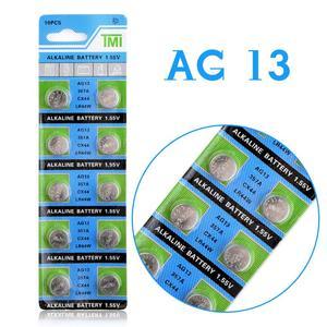 Image 3 - YCDC drop חינם + מכירה לוהטת + 10pcs AG13 LR44 LR1154 SR44 A76 357A 303 357 סוללה תא מטבע 1.55V אלקליין עבור שעונים צעצועים
