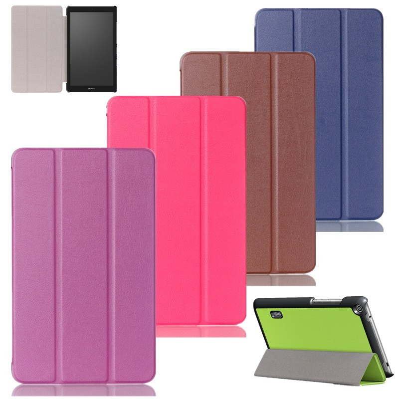 Solid Ultra Slim PU Leather Case Flip Stand Cover Case For Huawei MediaPad T3 7.0 BG2-W09 7.0 Tablet Case Protective Shell SKin