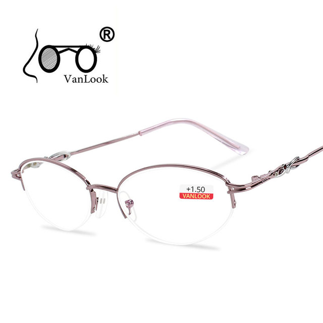 d12f7e4329f Women s Reading Glasses Sight for Long-sightedness Computer Spectacles with  Diopters Gafas de Lectura Hyperopia Eyeglasses +1 +2