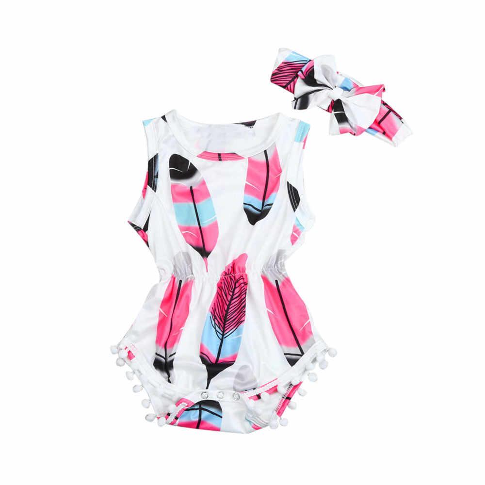 Одежда для новорожденных; одежда для малышей; Новинка; летняя одежда принцессы для маленьких девочек; повязка на голову; боди с кисточками; комбинезоны для малышей; комбинезон для первого дня рождения