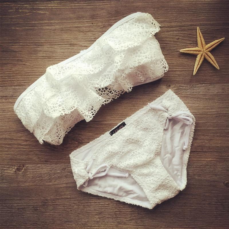 2019 új fürdőruha nők brazil bikini csipke fürdőruha kötszer fürdőruha párnázott fürdőruha bikini nők csipke lótusz fürdőruha