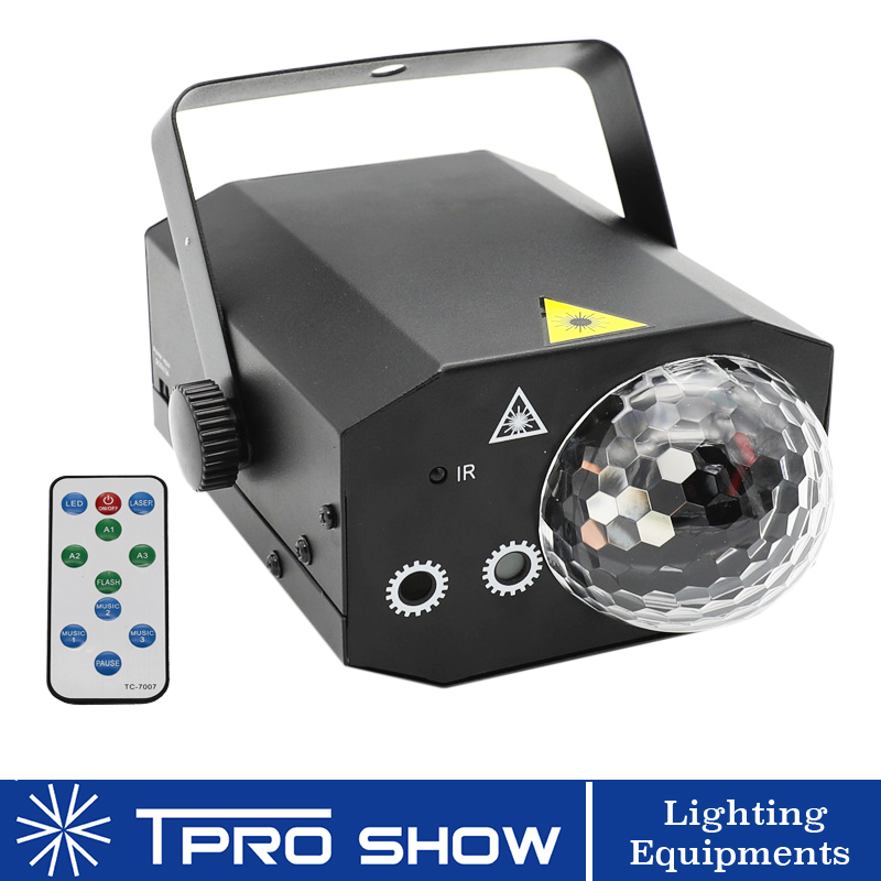 Disco Ball Remote Laser Projector RGB LED Magic Ball Mini Lazer Party Lights for DJ Home Party Multi DJ Lighting Effects