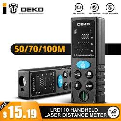 DEKO LRD110 ليزر محمول مقياس مسافات 40 M 60 M 80 M 100 M آلة حفر بالليزر صغيرة Rangefinder الليزر الشريط المدى مكتشف Diastimeter قياس
