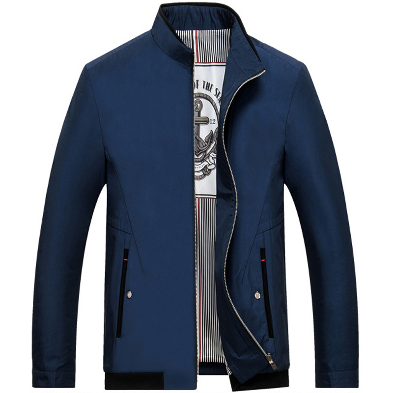 2018 Marque Veste Hommes Mode Casual Veste Printemps Automne Manteau Solide Fermeture Éclair Veste Courte Livraison Gratuite #16361