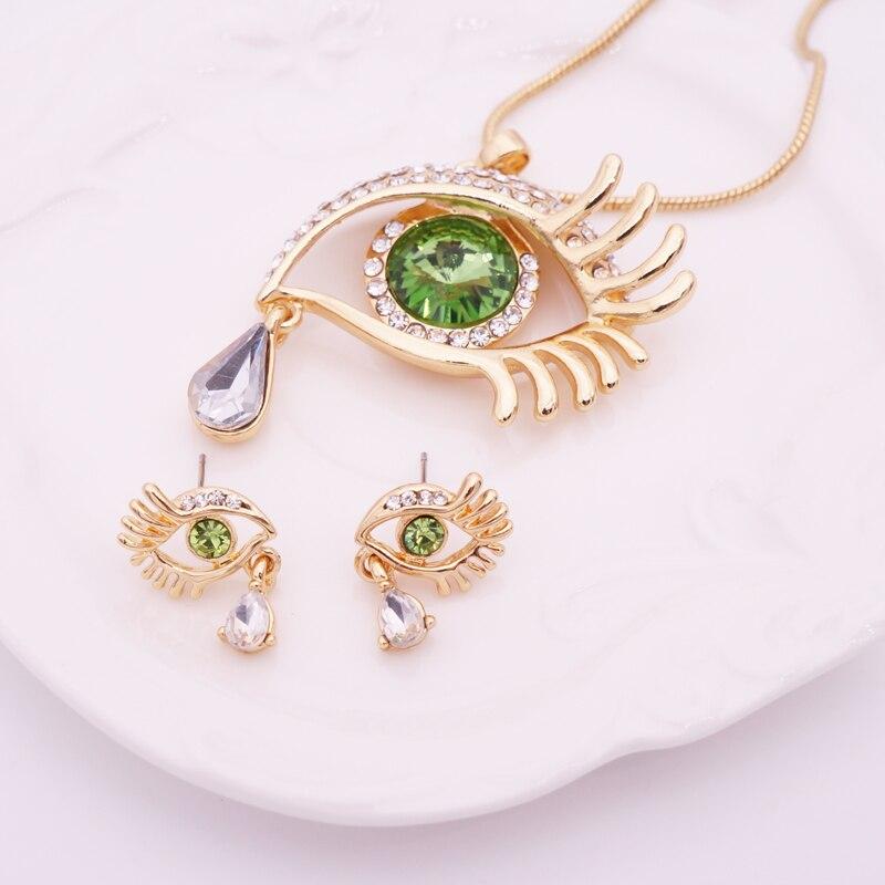 Κομψό Teardrop Eye Κρίσταλ Κοσμήματα Σετ - Κοσμήματα μόδας - Φωτογραφία 3