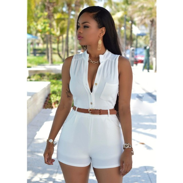 5fe12ab3abd Crazy hot sale playsuit women shorts solid rompers womens summer jumpsuit  elegant sexy ladies playsuits jumpsuits