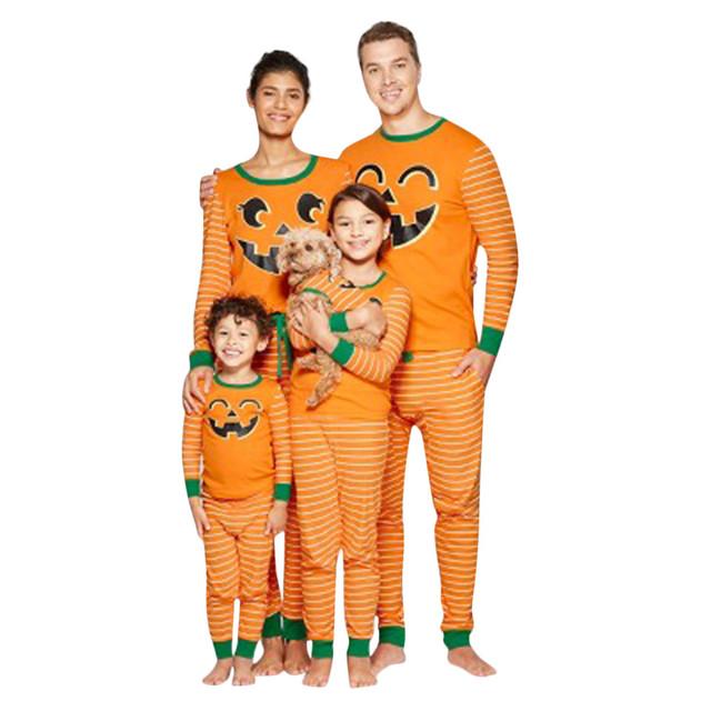 Pumpkin  Long Sleeve O-Neck Tops Blouse Pants